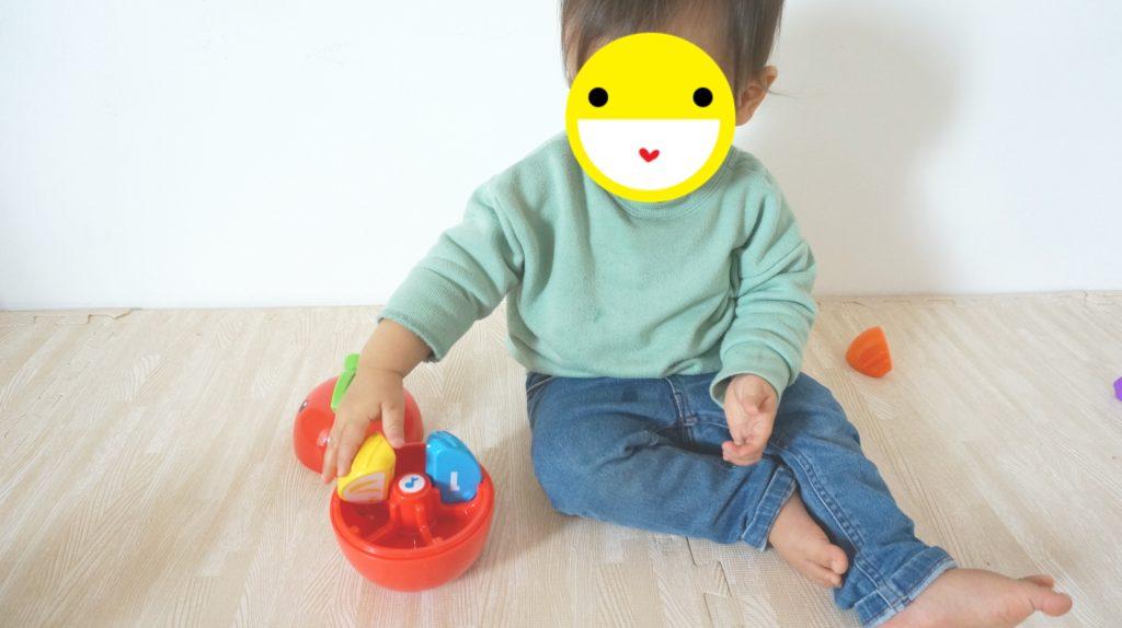 Happy Apple で遊ぶ息子